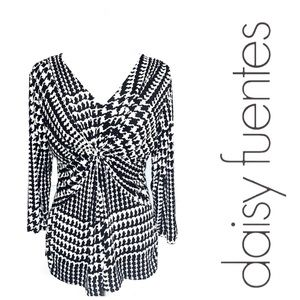 Daisy Fuentes Tops - Houndstooth Knit Top